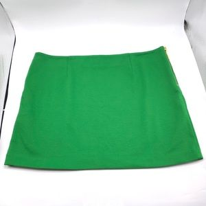 EUC Kelly Green Michael Kors Stretch Mini Skirt